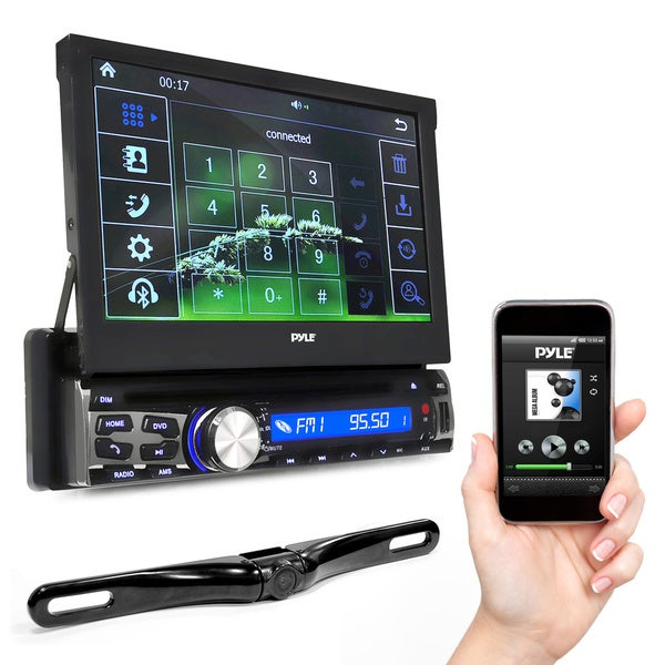 shop pyle 7 inch bluetooth headunit receiver and backup camera kit free shipping today. Black Bedroom Furniture Sets. Home Design Ideas