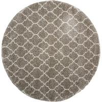 Nourison Amore Stone Shag Area Rug (7'10 Round) - 8' round/square