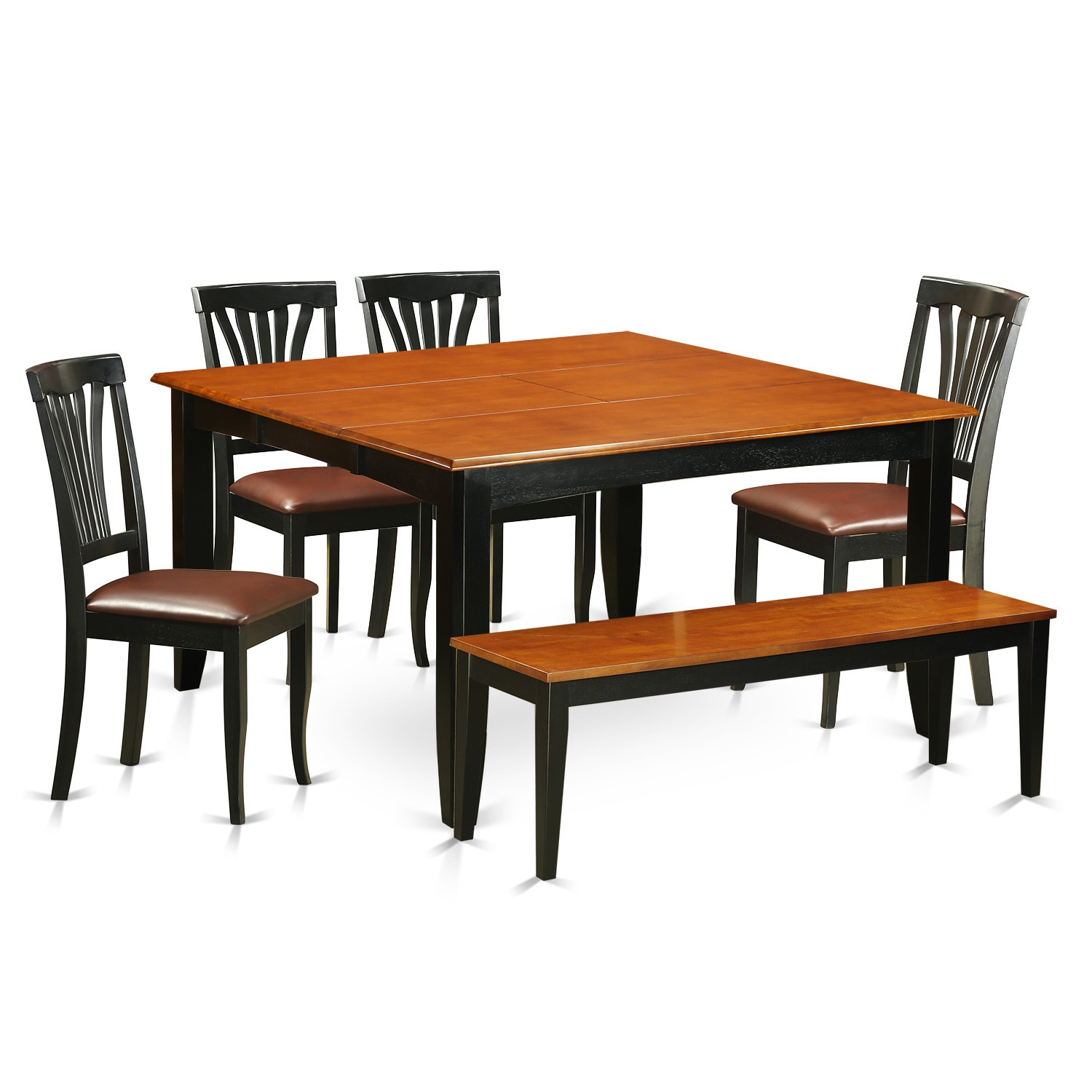 Brown Wooden 6 Piece Dining Room