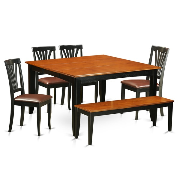 Cheap Dinette Sets Free Shipping: Shop Black/Brown Wooden 6-piece Dining Room Set With