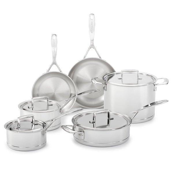 Kitchenaid Pot And Pan Set kitchenaid kcc7s10st 7-ply stainless steel 10-piece professional