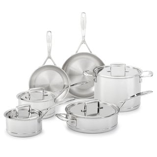 KitchenAid KCC7S10ST 7-ply Stainless Steel 10-piece Professional Cookware Set