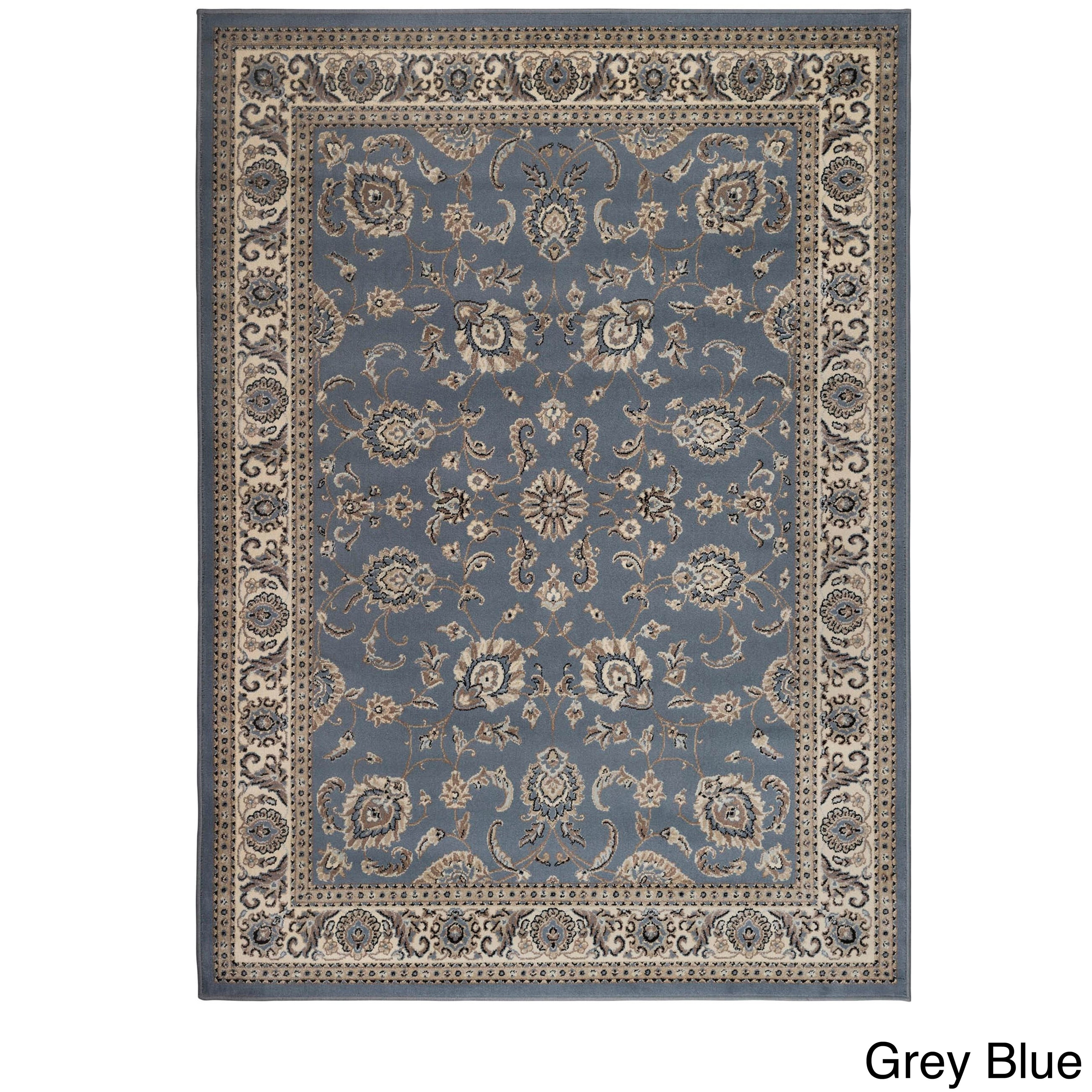 Admire Home Living Artisan Tabriz Traditional Oriental Pattern Area Rug Overstock 12004022 Denim 7 9 X 11