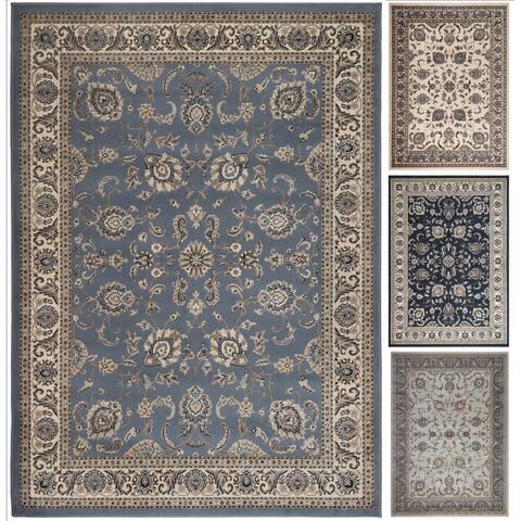 Admire Home Living Artisan Tabriz Blue/Green/Ivory Olefin Rectangular Area Rug (3'3 x 4'11)