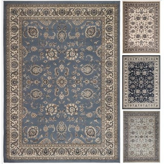 Admire Home Living Artisan Tabriz Blue/Green/Ivory Olefin Rectangular Area Rug (3'3 x 4'11)