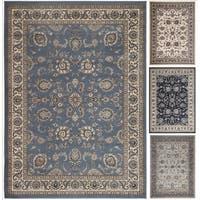 Admire Home Living Artisan Tabriz Blue/Green/Ivory Olefin Rectangular Area Rug (3'3 x 4'11) - 3'3 x 4'11