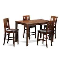 DUBU5H-MAH 4-stool 5-piece Pub Table Kitchen Set