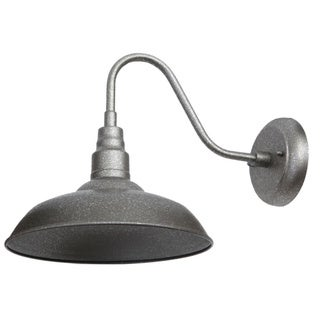 Y-Decor Lora 1 Light Outdoor Wall Lighting in Silvertone