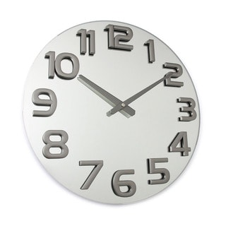 Hans Andersen Home Garricks Silvertone Glass Wall Clock