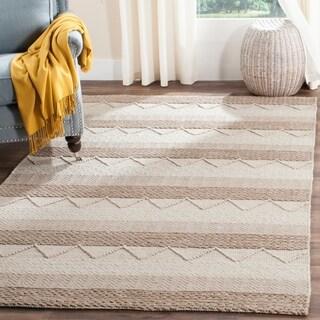 Safavieh Handmade Natura Beige Wool Rug (6' x 9')