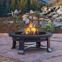Real Flame Black Steel Edwards Fire Pit