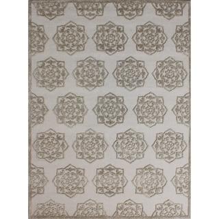 Safavieh Handmade Glamour Sand/ Beige Viscose Rug (8' x 11')