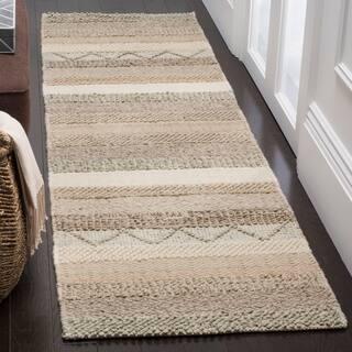 Safavieh Handmade Natura Beige Wool Rug 8 X