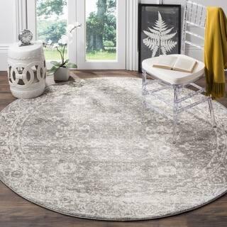 Safavieh Evoke Vintage Oriental Grey / Ivory Distressed Rug (5' 1 Round)|https://ak1.ostkcdn.com/images/products/12003862/P18881558.jpg?impolicy=medium
