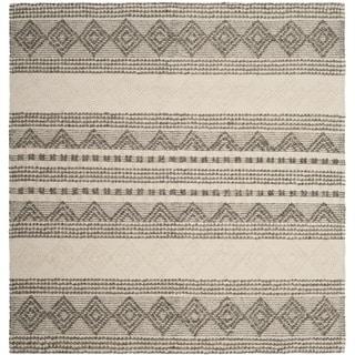 Safavieh Handmade Natura Grey/ Ivory Wool Rug (6' Square)