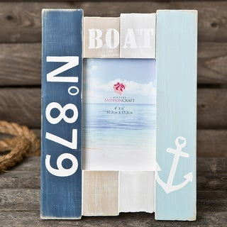 Nautical Blue Wooden Picture Frame