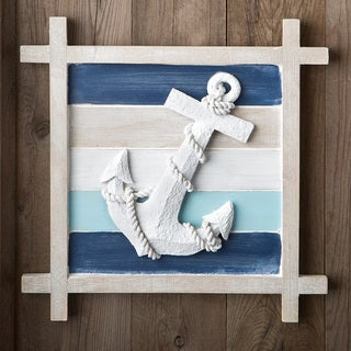 Blue Nautical Anchor Wall Decoration