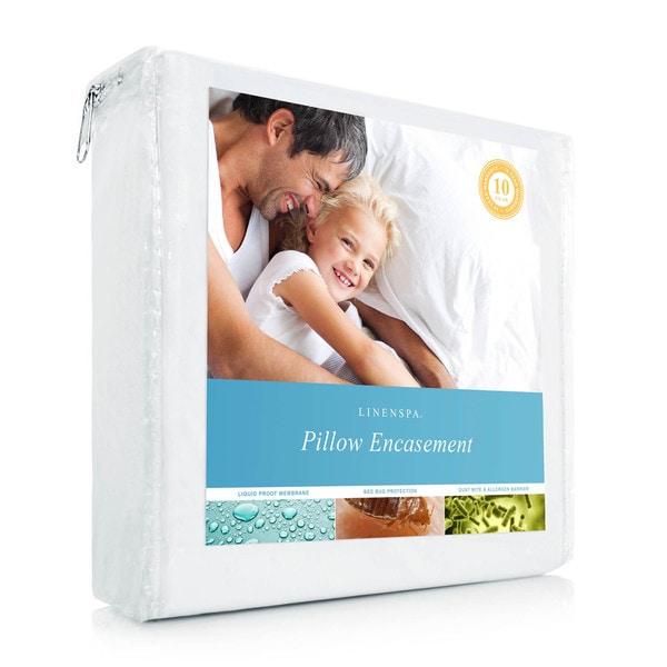 LINENSPA Zippered Encasement Pillow Protector