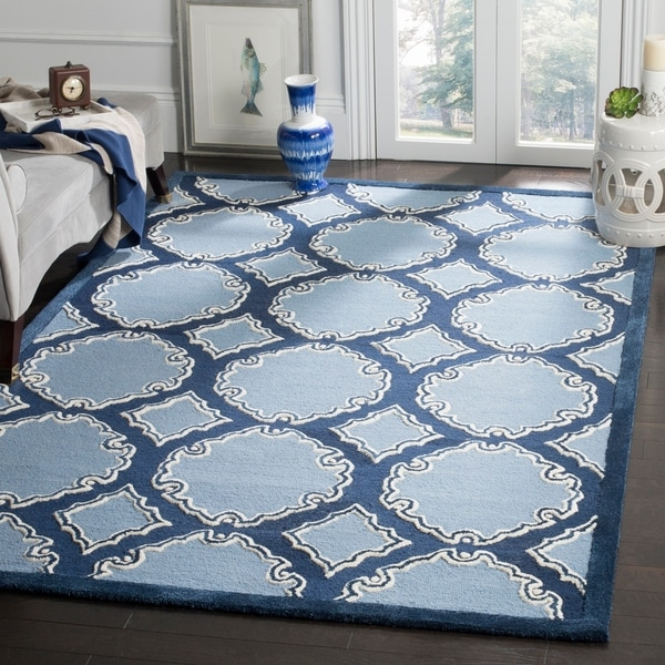 Safavieh Handmade Bella Navy/ Blue Wool Rug - 8' x 10'