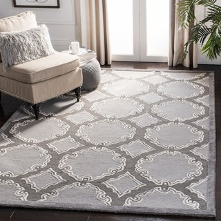 Safavieh Handmade Bella Grey/ Light Grey Wool Rug (8' x 10')
