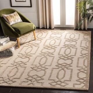 Safavieh Handmade Bella Sand/ Brown Wool Rug (8' x 10')