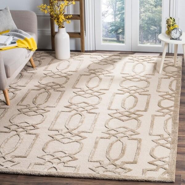 Safavieh Handmade Bella Sand/ Brown Wool Rug - 8' x 10'
