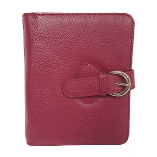 Franklin Covey Ava Leather Compact Binder (Option: Plum)