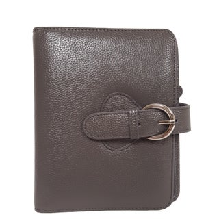 Franklin Covey Ava Leather Compact Binder (Option: Charcoal)