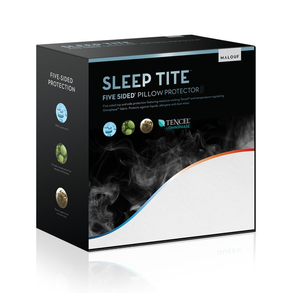 Sleep Tite 5-sided White Omniphase/Tencel Pillow Protector (Set of 2)