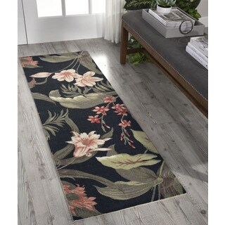 Waverly Sun N' Shade Wilea Coast Black Area Rug by Nourison (1'10 x 6')