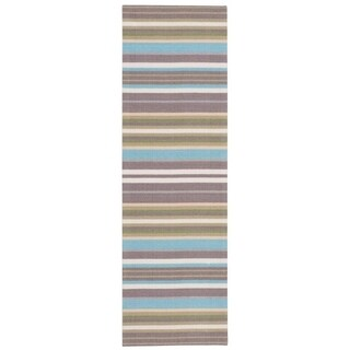 Waverly Sun N' Shade Paddock Shawl Platinum Area Rug by Nourison (1'10 x 6')
