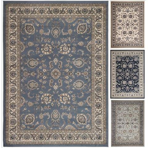 Admire Home Living Tabriz Beige/Blue/Green Artisan Area Rug (7'9 x 11')