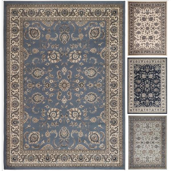Admire Home Living Tabriz Beige/Blue/Green Artisan Area Rug (7'9 x 11') - 7'9 x 11'