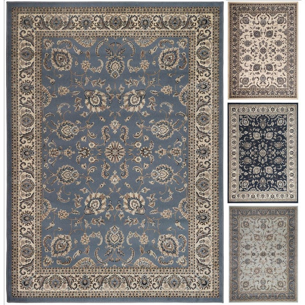7 X 11 Area Rug: Admire Home Living Tabriz Beige/Blue/Green Artisan Area
