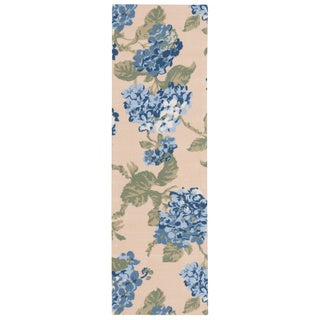 Waverly Sun N' Shade Yellow/ Blue Indoor/ Outdoor Rug by Nourison (1'10 x 6')