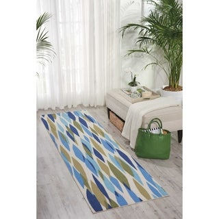 Waverly Sun N' Shade Bits and Pieces Seaglass Indoor/ Outdoor Rug by Nourison (2'3 x 8')