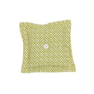 Periwinkle Green Cotton Lattice Decor Throw Pillow