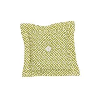 Periwinkle Green Cotton Lattice Decor Throw Pillow