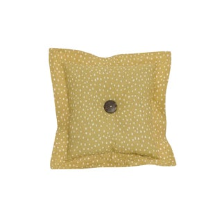 Cotton Tale Peggy Sue Gold Dot Throw Pillow