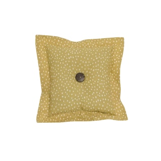 Penny Lane Cotton Gold Dot Throw Pillow