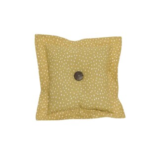 Penny Lane Cotton Gold Dot Throw Pillow