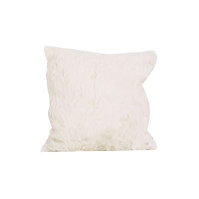 Cotton Tale Nightingale Off-white Faux Fur Decor Throw Pillow