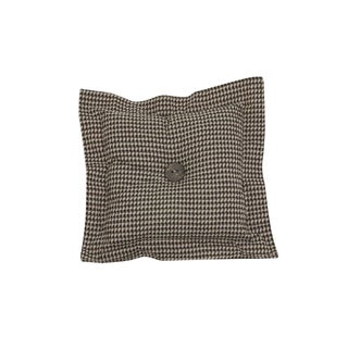Cotton Tale Houndstooth Brown Decor Throw Pillow