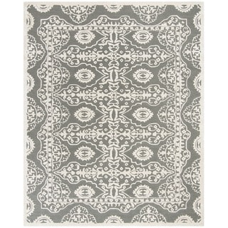Safavieh Handmade Bella Dark Grey/ Ivory Wool Rug (8' x 10')