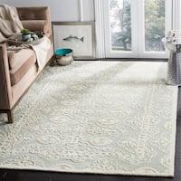 Safavieh Handmade Bella Grey/ Ivory Wool Rug - 8' x 10'