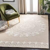 Safavieh Handmade Bella Beige/ Ivory Wool Rug - 8' x 10'