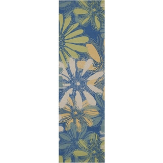Nourison Home and Garden Blue Rug (2'3 x 8')