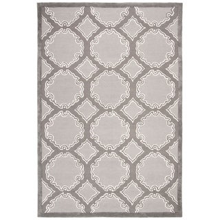 Safavieh Handmade Bella Grey/ Light Grey Wool Rug (6' x 9')