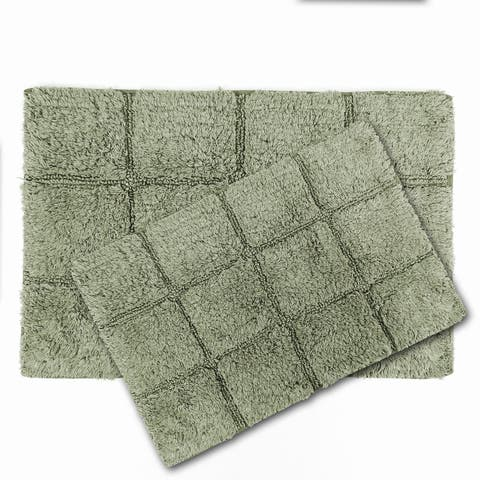 Gusano Cotton Anti-slip 2-piece Bath Rug Set