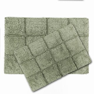Gusano Cotton Anti-slip 2-piece Bath Rug Set